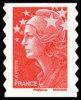 France Marianne De Beaujard Autoadhésif N°  175 A ** Au Modèle 4197  -> TVP ROUGE - Fond Blanc (PRO) - 2008-13 Marianne Van Beaujard