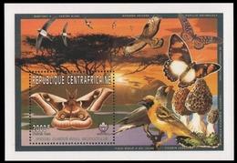 Zentralafrikanische Rep. 1997 - Mi-Nr. Block 588 A ** - MNH - Vögel / Birds - Zentralafrik. Republik