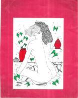 ILLUSTRATEUR Jean Pierre LUC -  NUE FEMININ - Belle Femme Au Visage Voilé - Tirage Limité   - BES1 - - Künstlerkarten