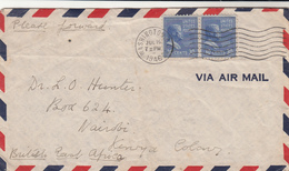 U.S. / Airmail / Kenya - Vereinigte Staaten