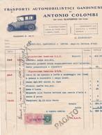 DOCUMENTO - FATTURA - GANDINO (BERGAMO) TRASPORTI AUTOMOBILISTICI GANDINESI DI ANTONIO COLOMBI - Italia