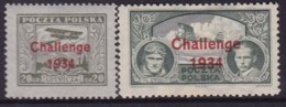 POLAND 1934 Challenge Fi 268-69 Mint Hinged - Unused Stamps