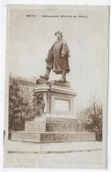 (RECTO / VERSO) METZ EN 1919 - ESPLANADE - STATUE DU POILU - BEAU CACHET - CPA VOYAGEE - Metz