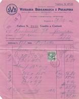 DOCUMENTO - FATTURA - BERGAMO - VETRARIA BERGAMASCA E PREALPINA , STABILIMENTO IN BERGAMO, VETRI-CRISTALLI -SPECCHI - Italia