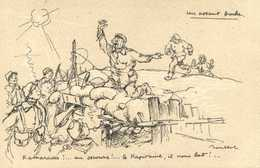 Militaria Patriotique Poulbot N° 34 Un Assaut Boche Kamarades !..au Secours !.. Le Kapitaine ,il Nous Bat!..RV - Patriottisch