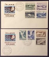 Is3 Island Iceland Électrification YT 261 262 263 264 265 266 267 268 Michel 301 à 310 FDC 4/4/1956 2 Lettre - FDC
