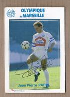 CPSM FOOTBALL - OLYMPIQUE DE MARSEILLE - Jean-Pierre PAPIN - SUPERBE PORTRAIT JOUEUR 1987-1988 J'OM - Calcio