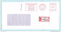 BUND BRD - AFS Freistempel R- Brief Registered Meter Cover 0450 - 10.12.1996 München - J. Fröschl Elektro .... (32337) - BRD