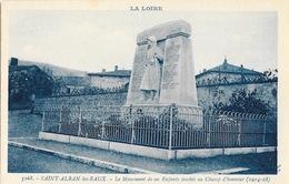 St Saint-Alban-les-Eaux (Loire) Monument De Ses Enfants Morts, Tombés Au Champ D'Honneur - Carte N° 5168 Non Circulée - Oorlogsmonumenten