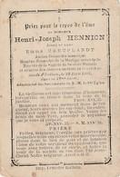 Halluin, 1902, Henri Hennion, Creuplandt - Devotieprenten