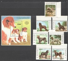 O1139 1986,1990 POSTES LAO,VIETNAM FAUNA PETS DOGS 1BL+1SET MNH - Hunde