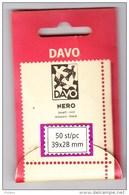 BANDE PREDECOUPEE DAVO NOIR 39x28 . - Bandes Cristal