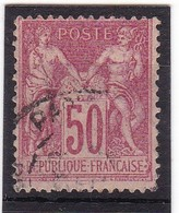 # Z.10904 France Republic 1898 - 1900 Type III. Value 50 C. Used, Yvert 104: Pax & Mercur - 1898-1900 Sage (Tipo III)