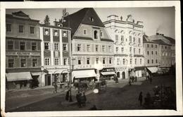 Cp Steyr In Oberösterreich, Marktplatz, G. Friedrich Wittigschlager, Café Stark, Spedition Fiaker - Austria