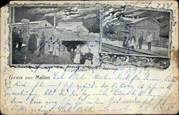 Clair De Lune Cp Malliss Malliß In Mecklenburg, Ziegelwerk, Bahnhof - Deutschland