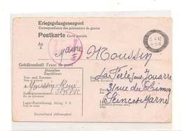1942 PRISONNIERS DE GUERRE CARTE POSTALE DE STALAG V II CAMP DE VILLINGEN POUR LA FERTE SOUS JOUARRE ( SEINE ET MARNE) - Marcophilie (Lettres)