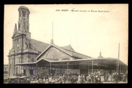 29 - BREST - MARCHE COUVERT ET EGLISE ST-LOUIS - Brest
