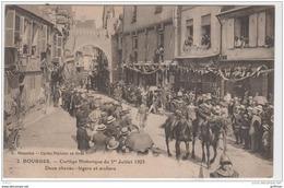 BOURGES CORTEGE HISTORIQUE DU 1er JUILLET 1923 DEUX CHEVAUX CEVAU LEGERS ET ARCHERS TBE - Bourges