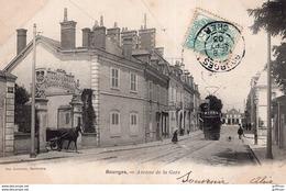 BOURGES AVENUE DE LA GARE 1903 PRECURSEUR TBE - Bourges