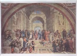 AK-div-30 385 - Sammelkarte Malerei Der Renaissance - Raffael  - Die Schule Von Athen-  Fresko In Der Stanza Des Vatikas - Non Classés
