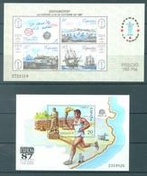SPAIN - 1987 - MNH/**. - YEAR COMPLETE BLOC - ESPAMER EXFILNA  - Yv BLOC 36-37 - Lot 20824 - Blocs & Hojas