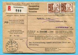 Einzugsauftrag Niederbuchsitten 1954 - Absender: Jura - L. Henzirohs A.G. - Svizzera