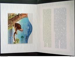 Russia, 2017, Mi. 2373 (bl. 237II), Sc. 7780, 100th Anniv. Of Barguzinsky Nature Reserve, Sable, With Overprint, Booklet - 1992-.... Federazione