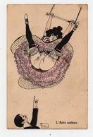 CPA L'astre Radieux Humour Femme Balançoire Panty Homme - Mujeres