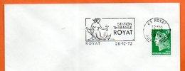 63 ROYAT   TATION THERMALE    1972 Lettre Entière N° AB 773 - Storia Postale