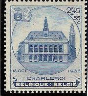 (Fb).Belgio.1936.Expo Philat. Charleroi.2f 45 + 55c.Nuovo.MNH (252-18) - Belgien