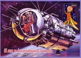 Kazakhstan 2019. Maxicard (Maximum Cards) Space. 85th Anniversary Of The Birth Of Yuri Gagarin. - FDC & Commémoratifs