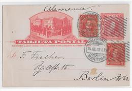 1912 - CHILE - CARTE ENTIER ILLUSTREE De VALPARAISO MARITIMA => BERLIN - Chile