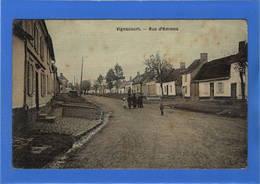 80 SOMME - VIGNACOURT Rue D'Amiens, Carte Toilée Couleur - Vignacourt