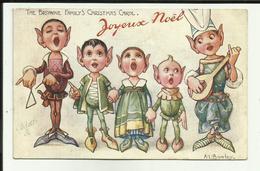 Carte De Noel - Fete- Enfants - Jouets - Cadeaux -  Illustrateur - Animée - - Noël
