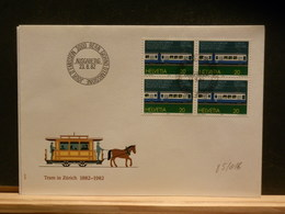 85/016  FDC    SUISSE - Trains