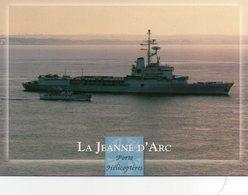 CPM - J - BATEAU DE GUERRE - LA JEANNE D'ARC - PORTE HELICOPTERES - Oorlog