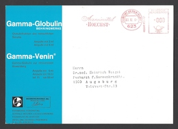 BRD AFS, Gebühr Bezahlt - FRANKFURT AM MAIN, Arzneimittel HOECHST Auf Großwerbekarte Gamma-Globulin/Venin 1964 - Pharmacy
