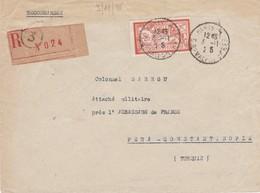 N°145 S / Env Recommandé T.P. Ob Paris 3 3 11 25 Pour Pera Constantinople Turquie - 1900-27 Merson