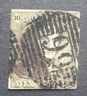 BELGIE   1849   Nr. 1   P 99  Quivrain  Coba 300  / Midden Rechts Dun Plekje    CW 90,00 - 1849 Epaulettes