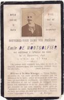 Généalogie - Faire-part De Décés - Carte Mortuaire : Emile DE MONTGOLFIER : - 1896 - ( Photographe Au Japon 1866-1873 ) - Décès