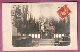 Carte Photo Chassigny Sous Dun - Intérieur De L'eglise - Statue  - - Autres Communes