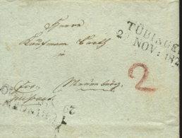 1820 Tübingen Bf N. Nürnberg Sowie Bilder Des Inhaltes - Deutschland
