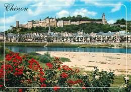 37 - Chinon - Le Château , La Vienne Et La Ville - Voir Scans Recto-Verso - Chinon