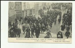 10 - Aube - Bar Sur Aube  - Manifestations Des Vignerons - 1911 - Défilé Rue Nationale  - Animée- - Bar-sur-Aube