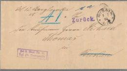 """1894 RYBNIK Bf M. Inhalt ,,Frei Lt. Anvers. No. 21. Kgl.Pr. Amtsgericht"""" N. Breslau-Zurück - Deutschland"""