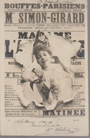 BOUFFES PARISIENS - MME SIMON GIRARD - Theatre