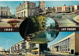 37 - Joué Les Tours - Multivues - Immeubles - Flamme Postale De Tours - Voir Scans Recto-Verso - Other Municipalities