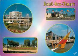37 - Joué Les Tours - Multivues - Lac De Joué Ballan - Centre Culturel André Malraux - Voir Scans Recto-Verso - Other Municipalities