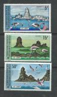 Afars Et Issas N° 384 /  86 XX Paysages Du Lac Abbé, Les 3 Valeurs Sans Charnière, TB - Afars Et Issas (1967-1977)