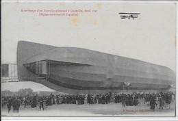 Attérissage D'unZeppelin Allemand à Lunéville ,Avril 1913-biplan Survolant Le Zeppelin - Luneville